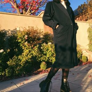 VTG 80's Wool Double Breasted Long Coat